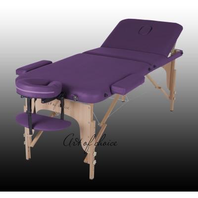 Стол массажный деревянный 3х секционный DEN